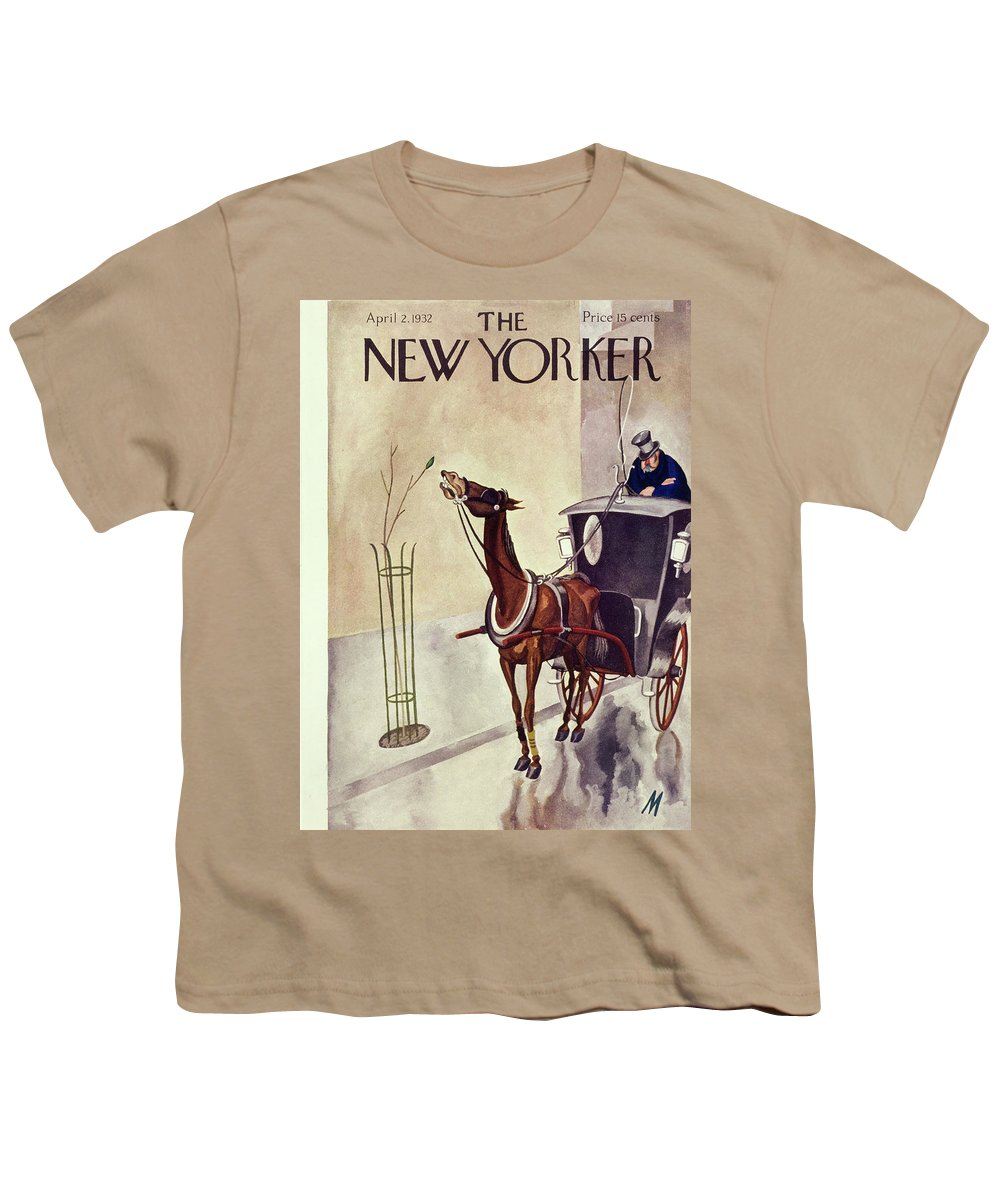 Illustration Youth T-Shirt featuring the painting New Yorker April 2 1932 by Julian De Miskey