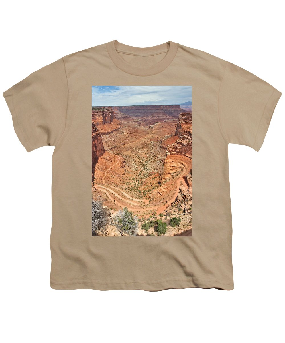 3scape Youth T-Shirt featuring the photograph Shafer Trail by Adam Romanowicz
