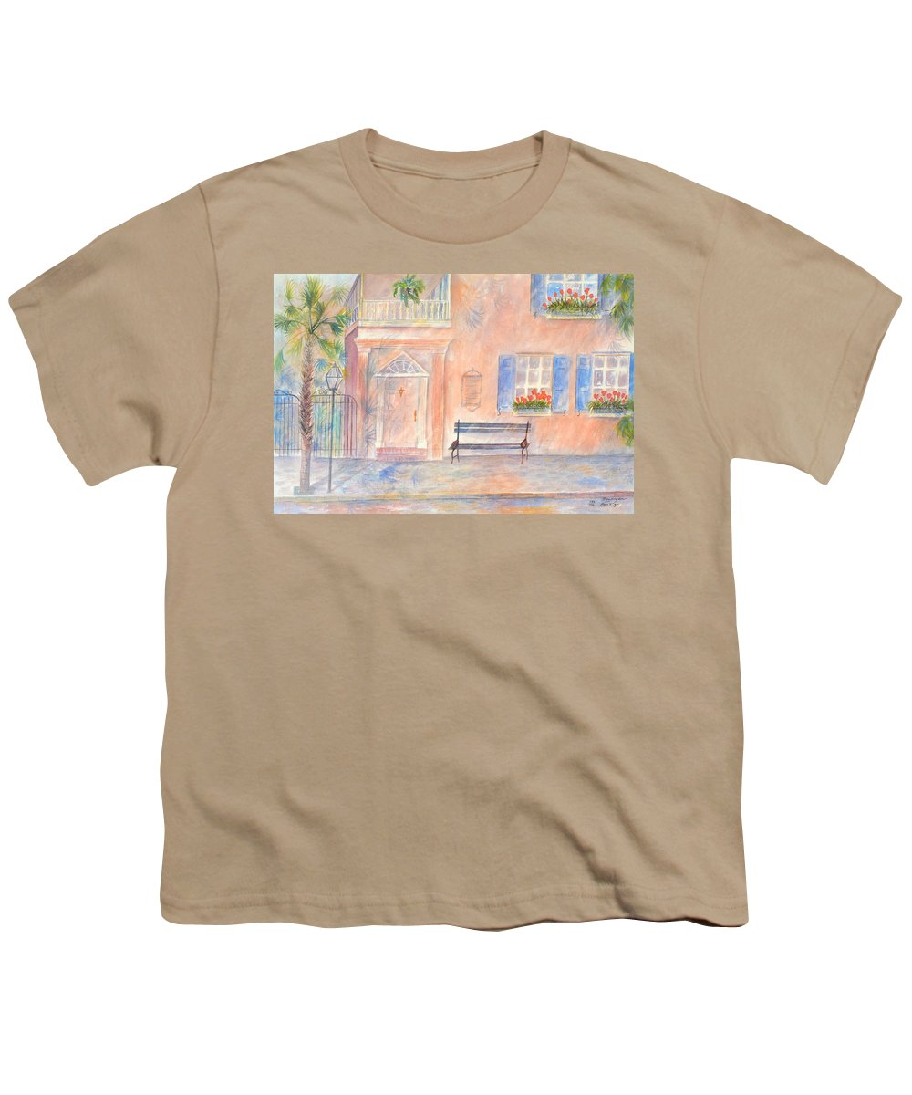 Charleston; Low Country; Palmetto Tree Youth T-Shirt featuring the painting Sunday Morning In Charleston by Ben Kiger