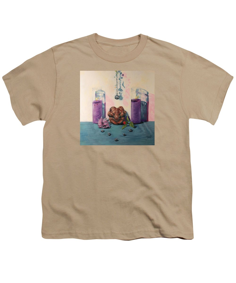 Mourning Youth T-Shirt featuring the painting They Are Gone We Are Here by Shelley Irish