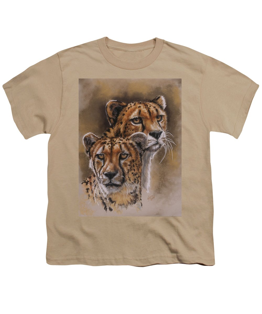 Cheetah Youth T-Shirt featuring the pastel Twins by Barbara Keith