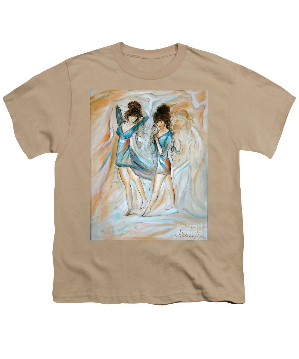 Contemporary Art Youth T-Shirt featuring the painting Wondering by Silvana Abel