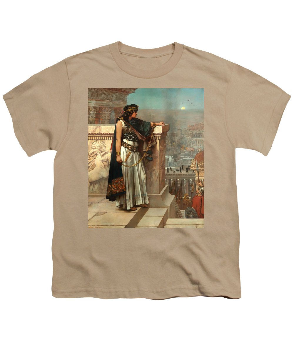 Painting Youth T-Shirt featuring the painting Zenobia's Last Look On Palmyra by Mountain Dreams