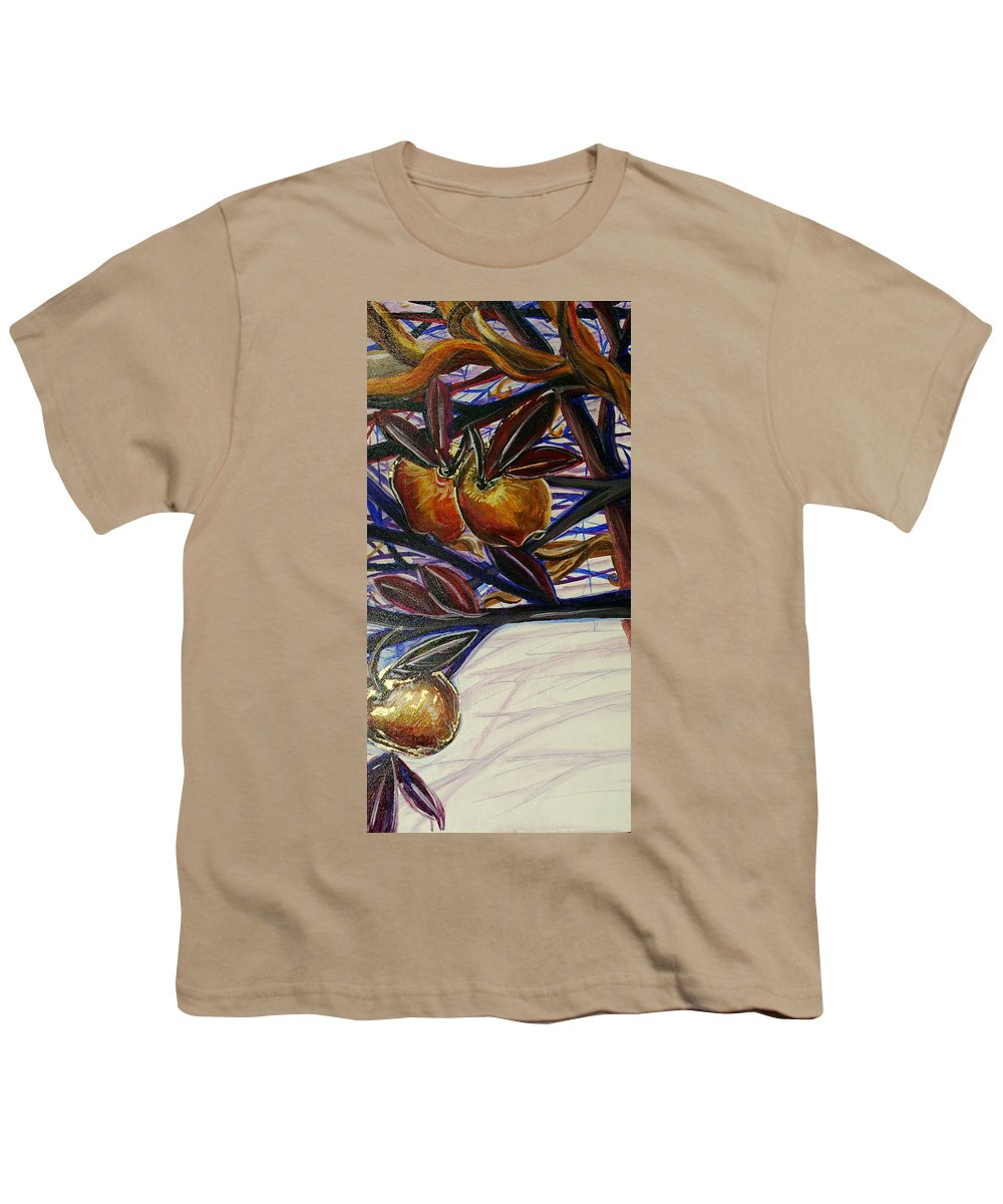 Tree Youth T-Shirt featuring the painting Fifth World Two by Kate Fortin