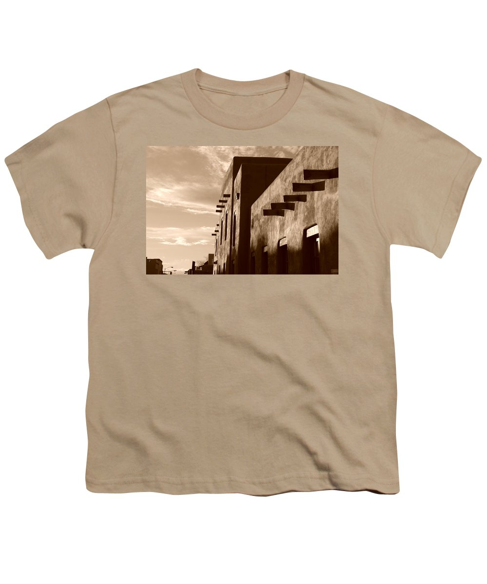 Architecture Youth T-Shirt featuring the photograph Adobe Sunset by Rob Hans