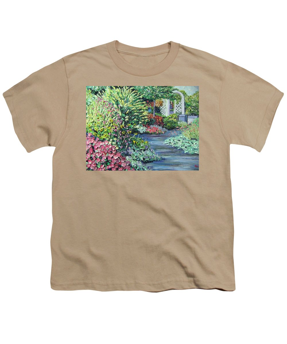 Garden Youth T-Shirt featuring the painting Amelia Park Pathway by Richard Nowak