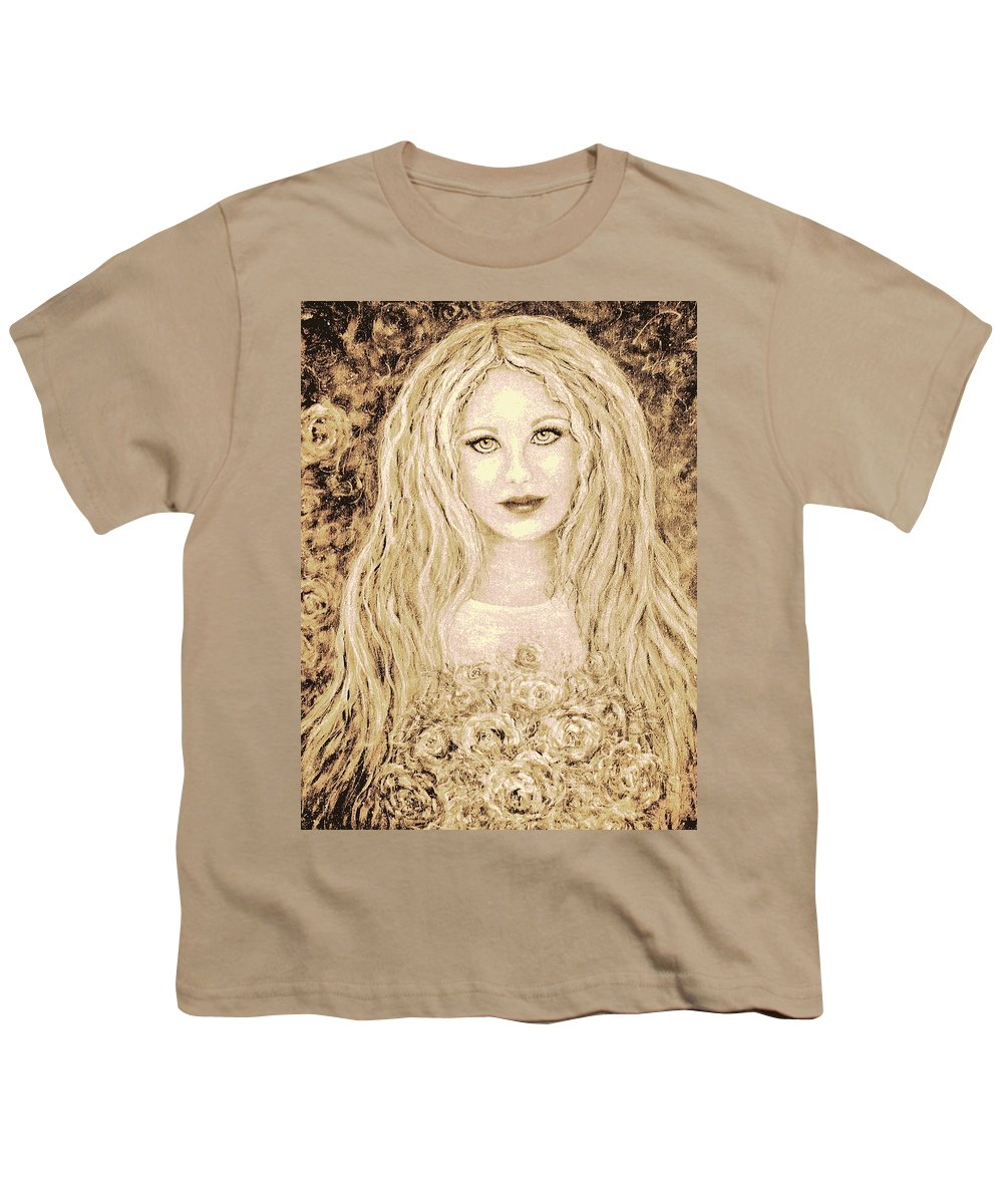 Portrait Youth T-Shirt featuring the painting Flowers For You by Natalie Holland