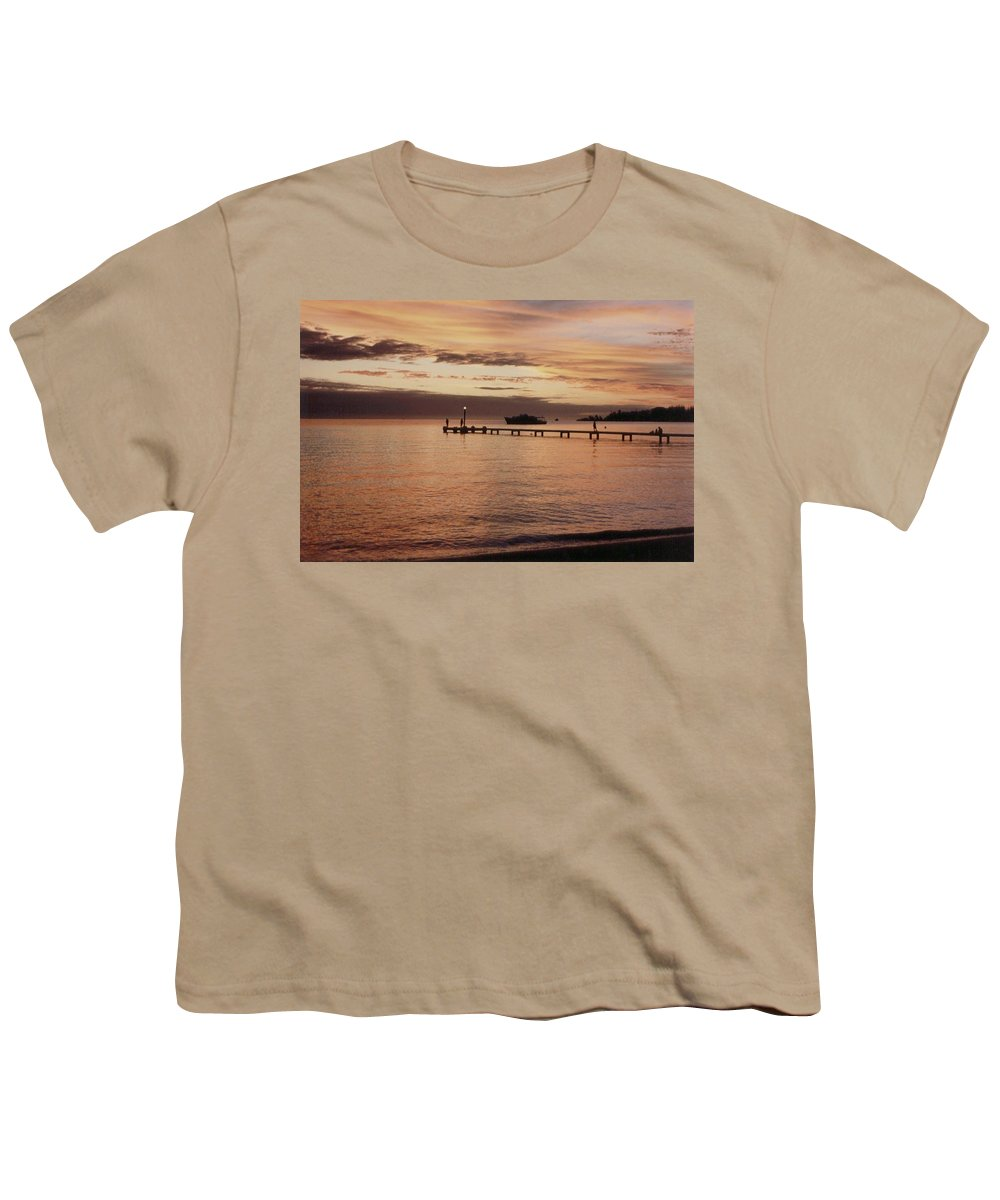 Sunset Youth T-Shirt featuring the photograph Sunset In Paradise by Mary-Lee Sanders