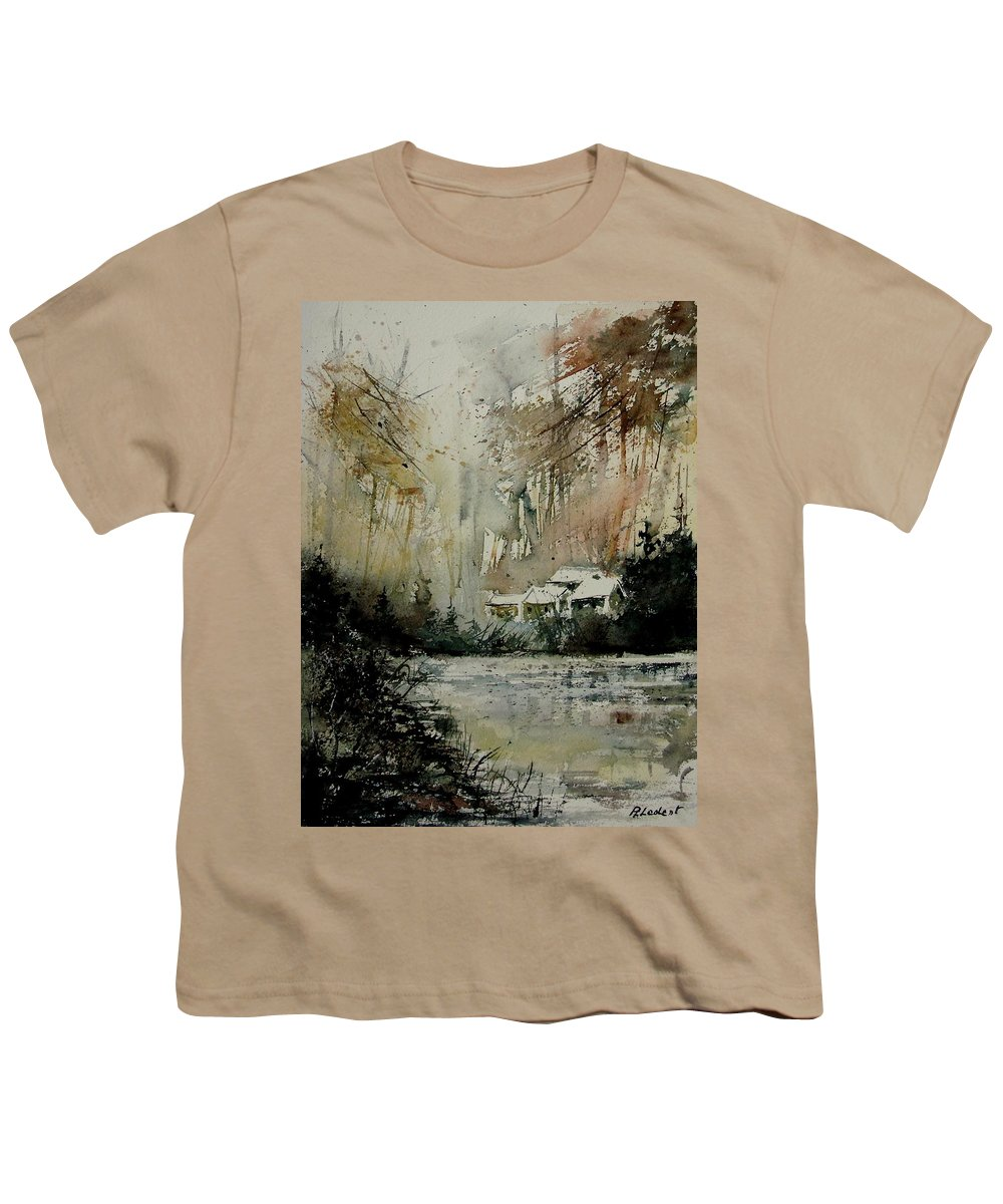Water Youth T-Shirt featuring the painting Watercolor 070608 by Pol Ledent