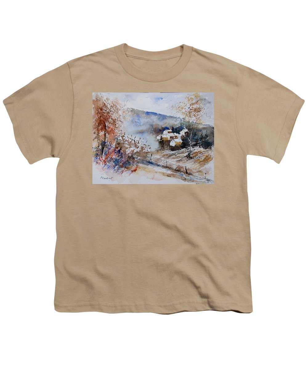 Winter Youth T-Shirt featuring the painting Watercolor 902091 by Pol Ledent