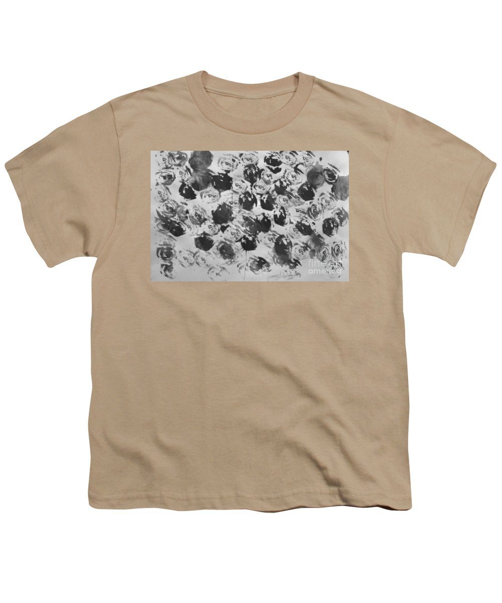Abstract Youth T-Shirt featuring the painting A Rose Is A Rose by Jamey Balester
