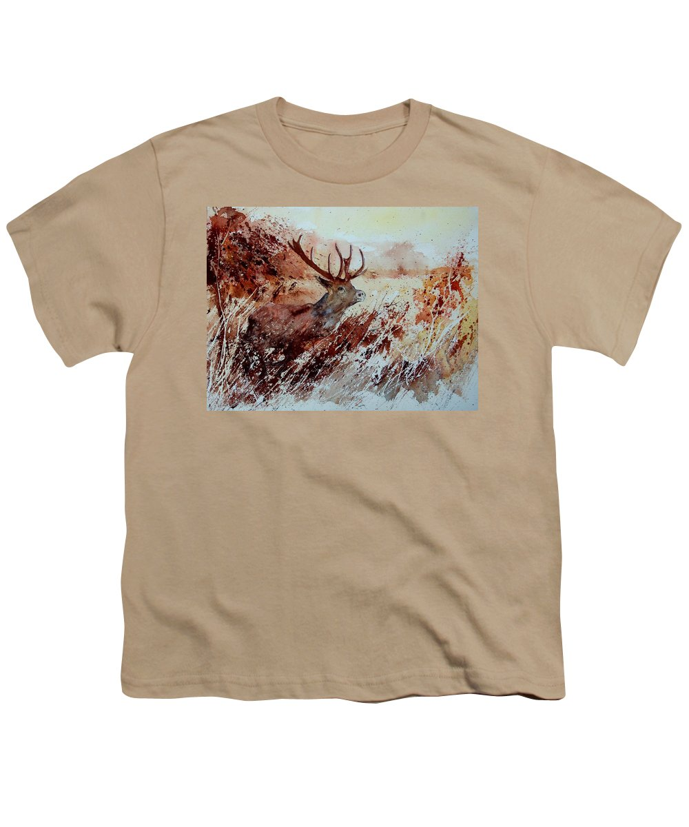Animal Youth T-Shirt featuring the painting A Stag by Pol Ledent