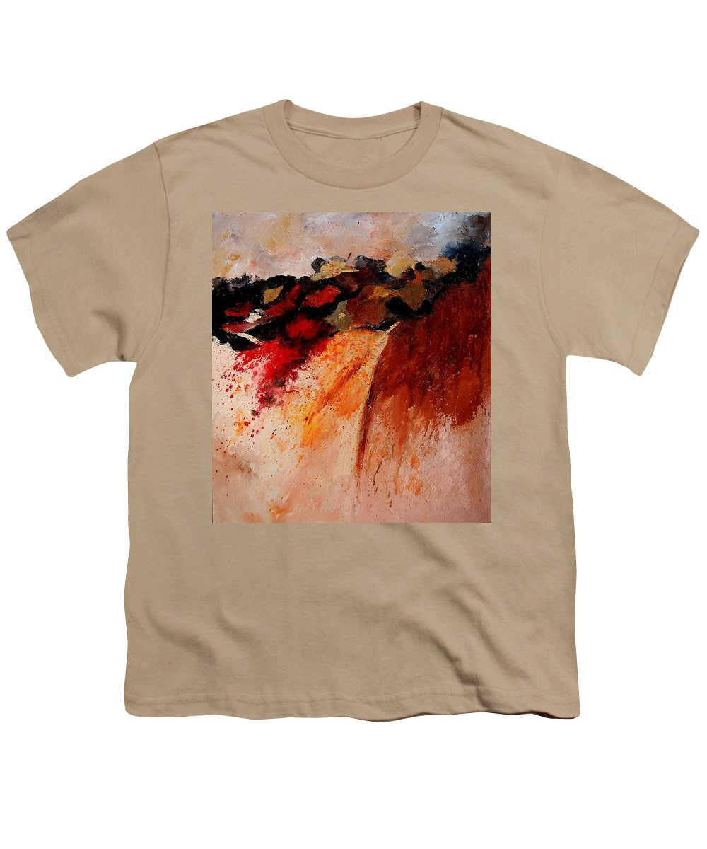 Abstract Youth T-Shirt featuring the painting Abstract 010607 by Pol Ledent
