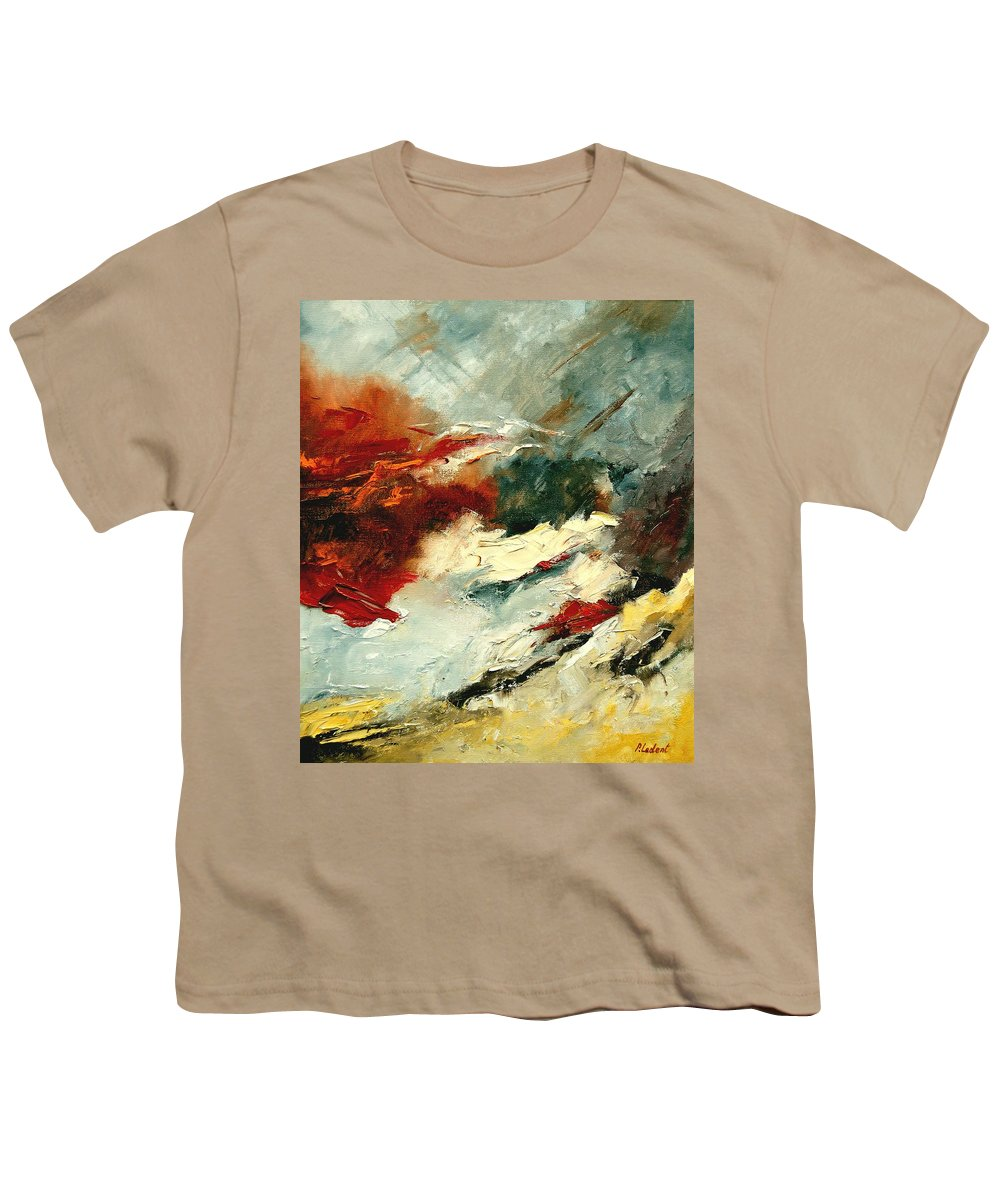 Abstract Youth T-Shirt featuring the painting Abstract 9 by Pol Ledent