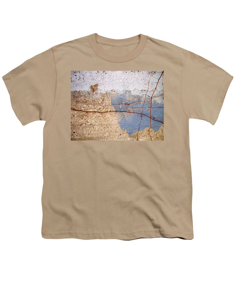 Industrial. Urban Youth T-Shirt featuring the photograph Abstract Concrete 15 by Anita Burgermeister