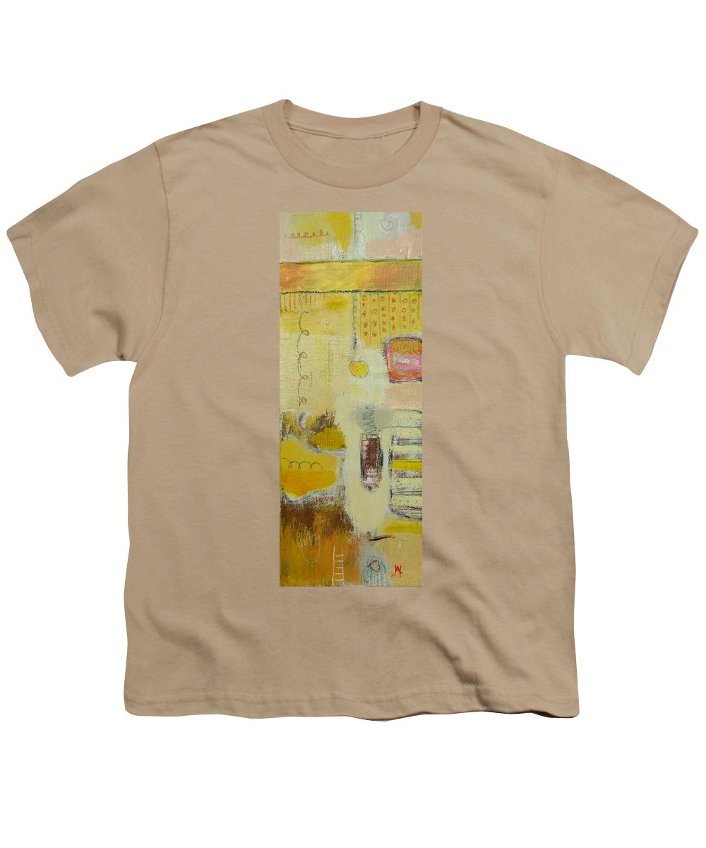 Abstract Youth T-Shirt featuring the painting Abstract Life 1 by Habib Ayat