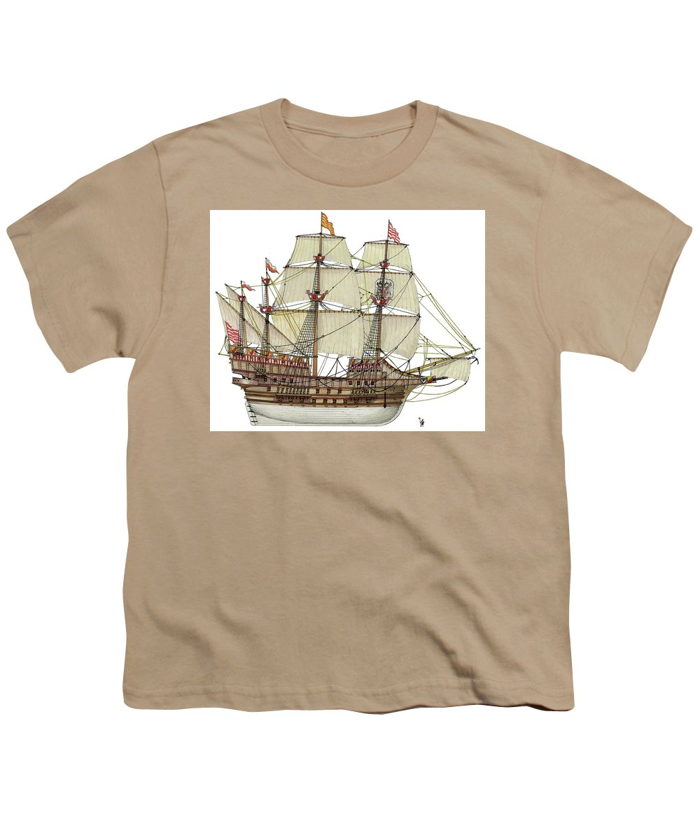 Adler Von Lubeck Youth T-Shirt featuring the drawing Adler von Lubeck by The Collectioner