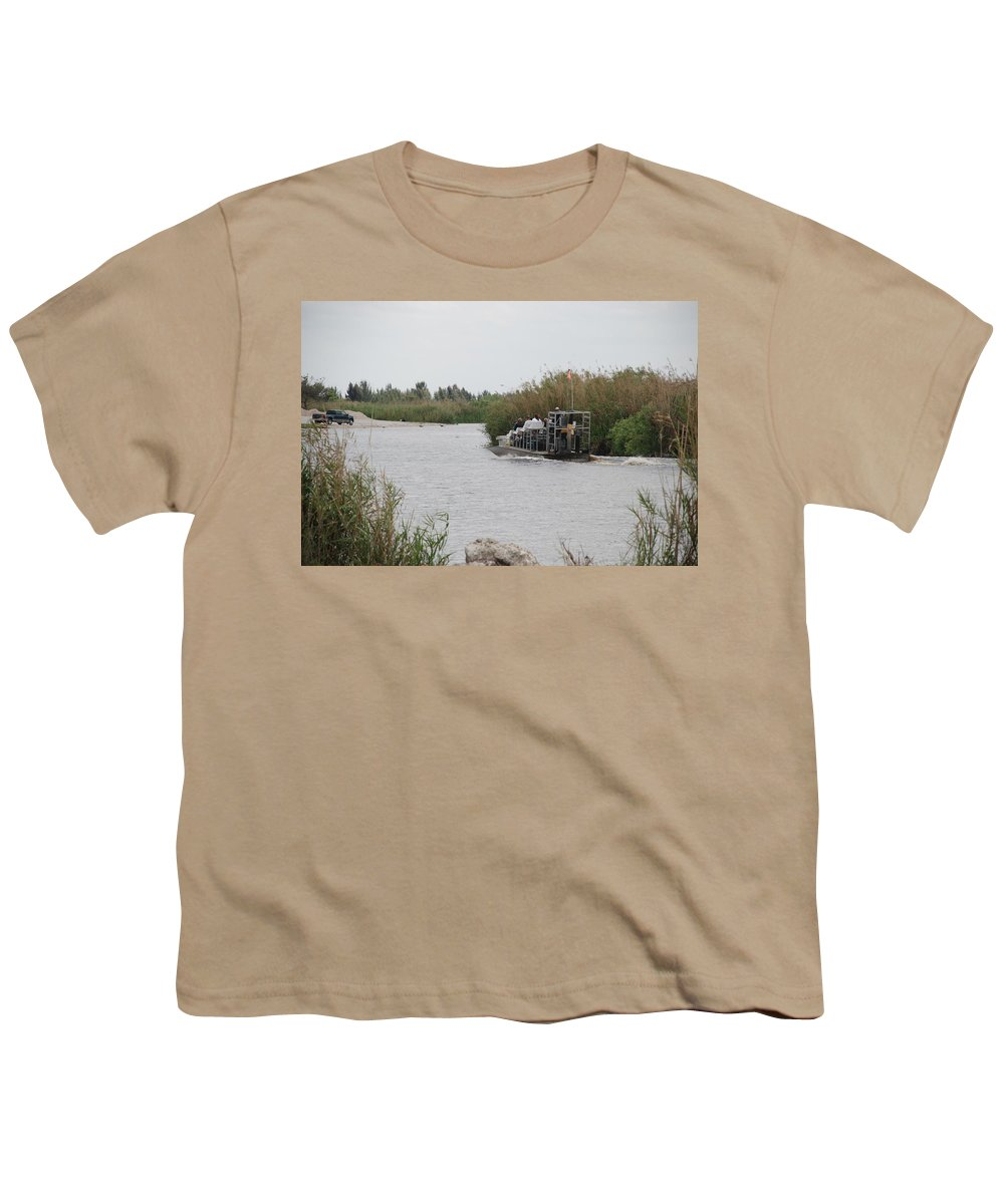Everglades Youth T-Shirt featuring the photograph Airboat Rides 25 Cents by Rob Hans