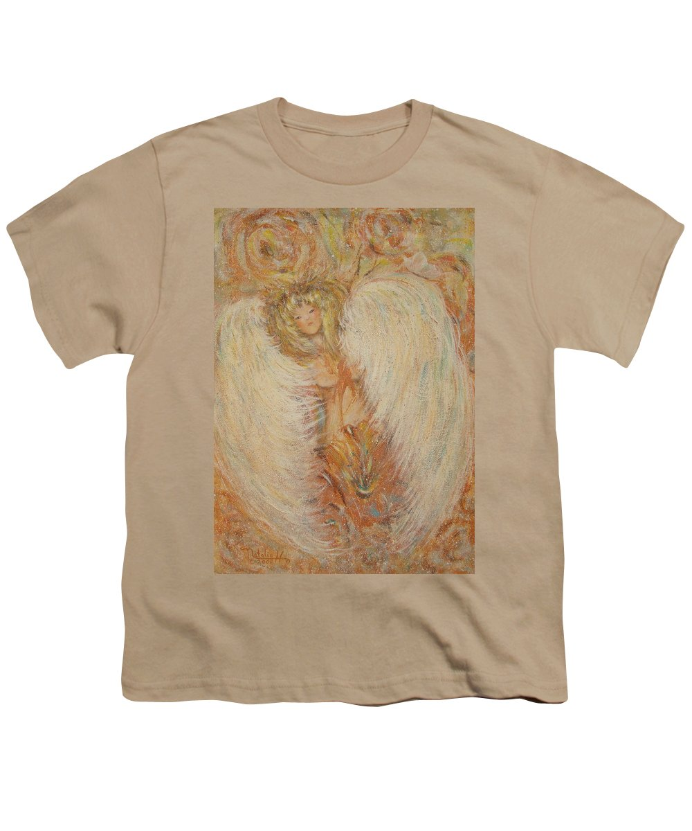 Angel Youth T-Shirt featuring the painting Angel Loves You by Natalie Holland