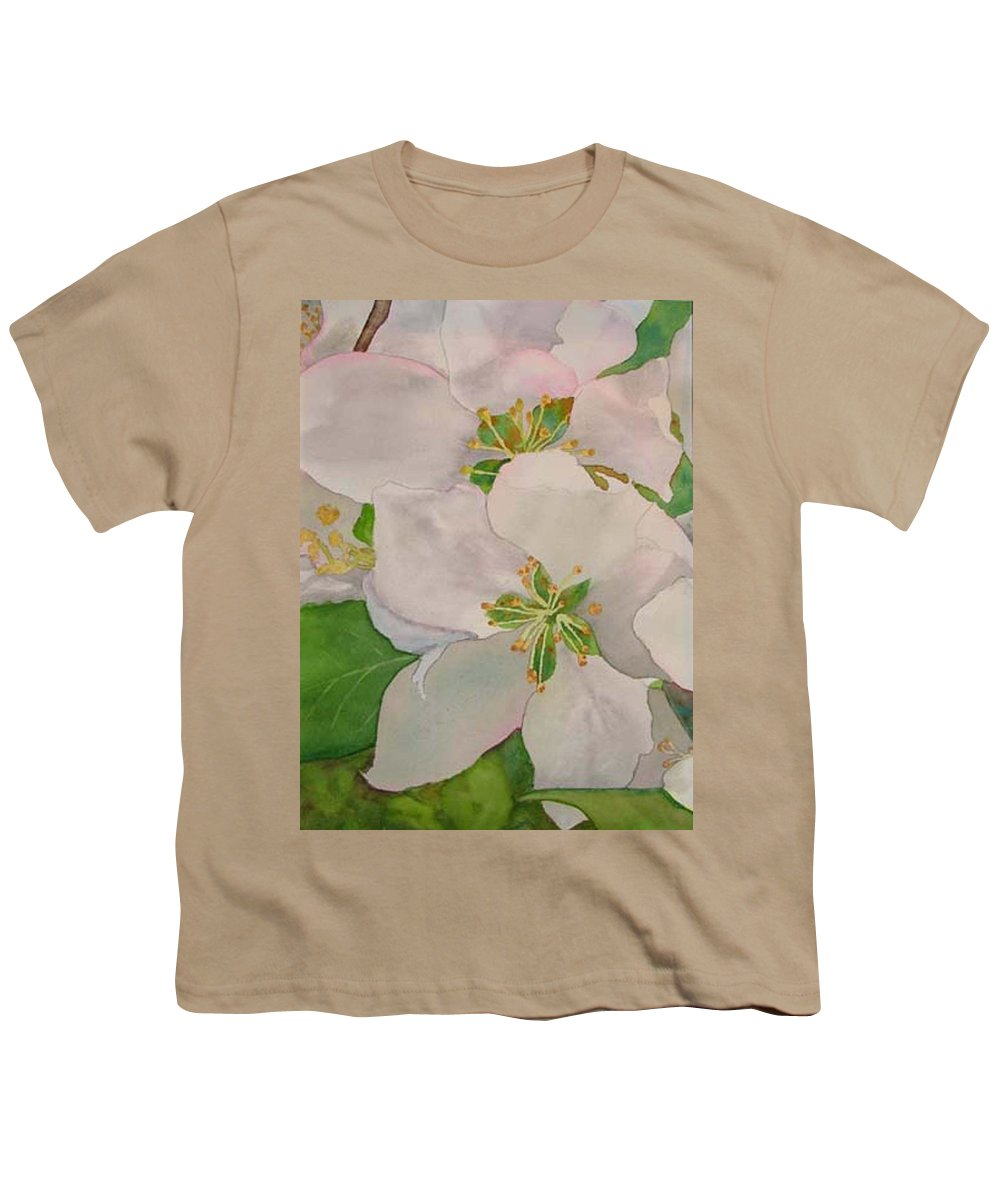 Apple Blossoms Youth T-Shirt featuring the painting Apple Blossoms by Sharon E Allen