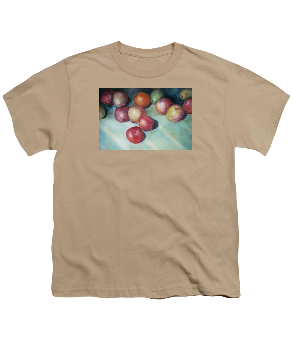 Orange Youth T-Shirt featuring the painting Apples And Orange by Jun Jamosmos