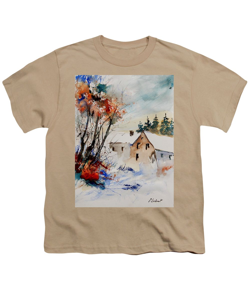 Winter Youth T-Shirt featuring the painting Aqua 905070 by Pol Ledent