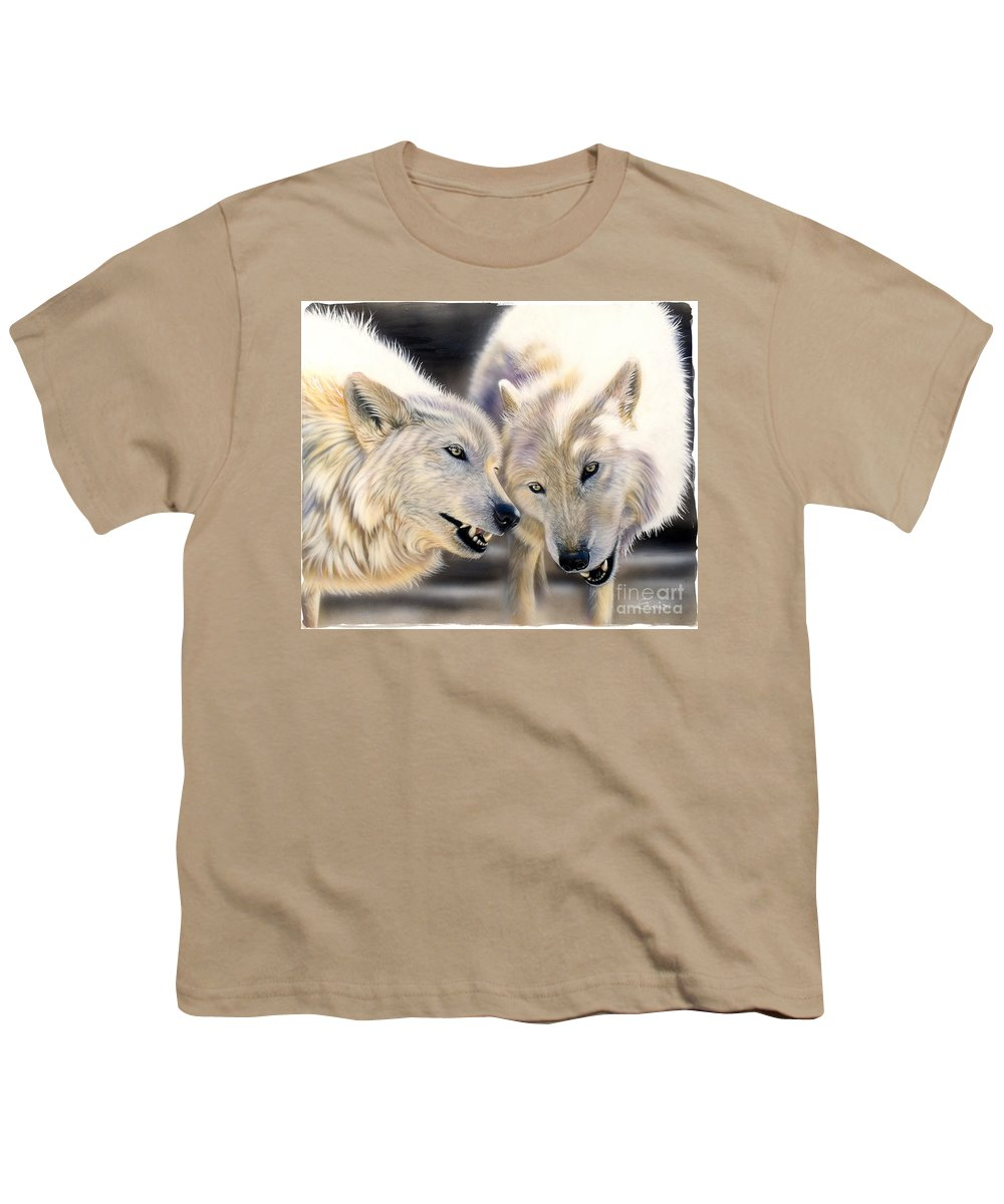 Acrylics Youth T-Shirt featuring the painting Arctic Pair by Sandi Baker