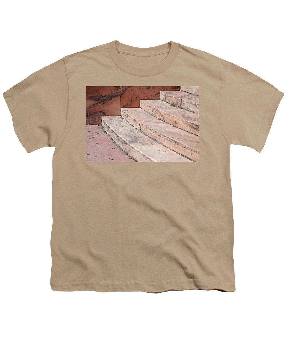 Architecture Youth T-Shirt featuring the photograph Art Deco Steps by Rob Hans