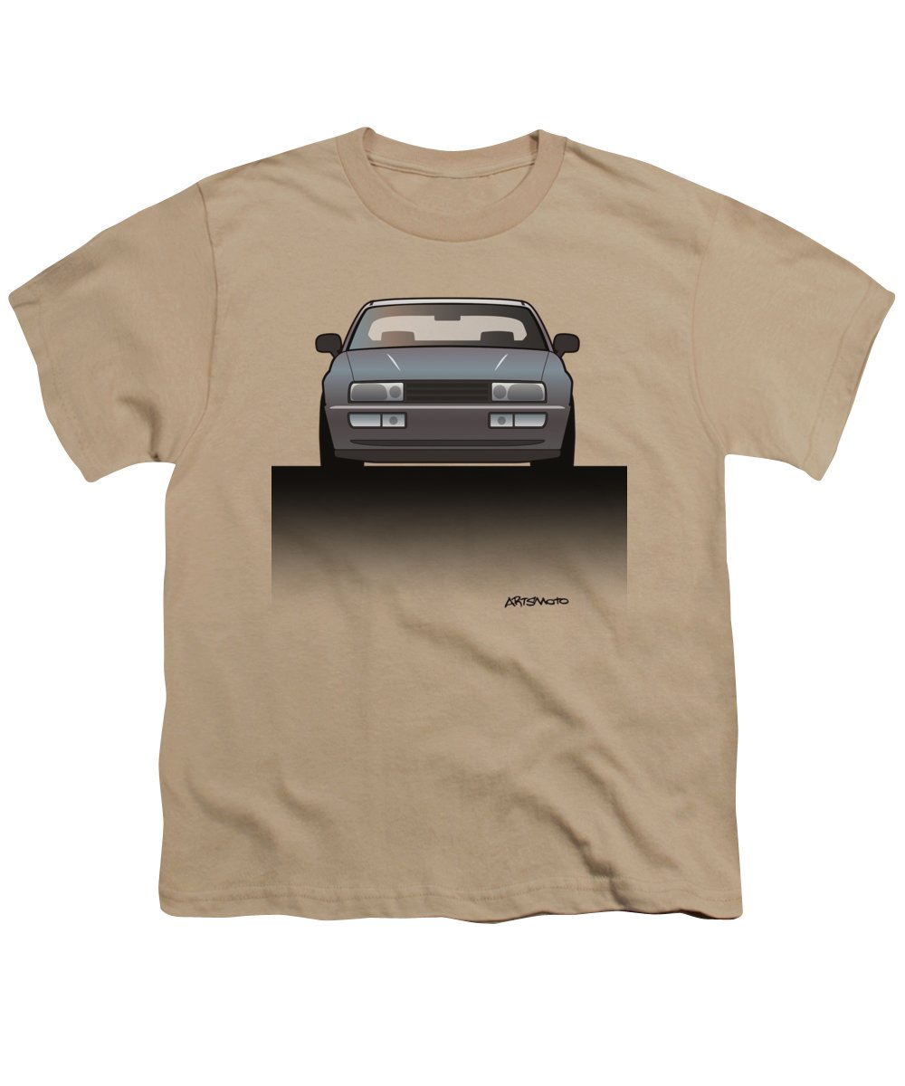 Car Youth T-Shirt featuring the mixed media Modern Euro Icons Series Vw Corrado Vr6 by Monkey Crisis On Mars