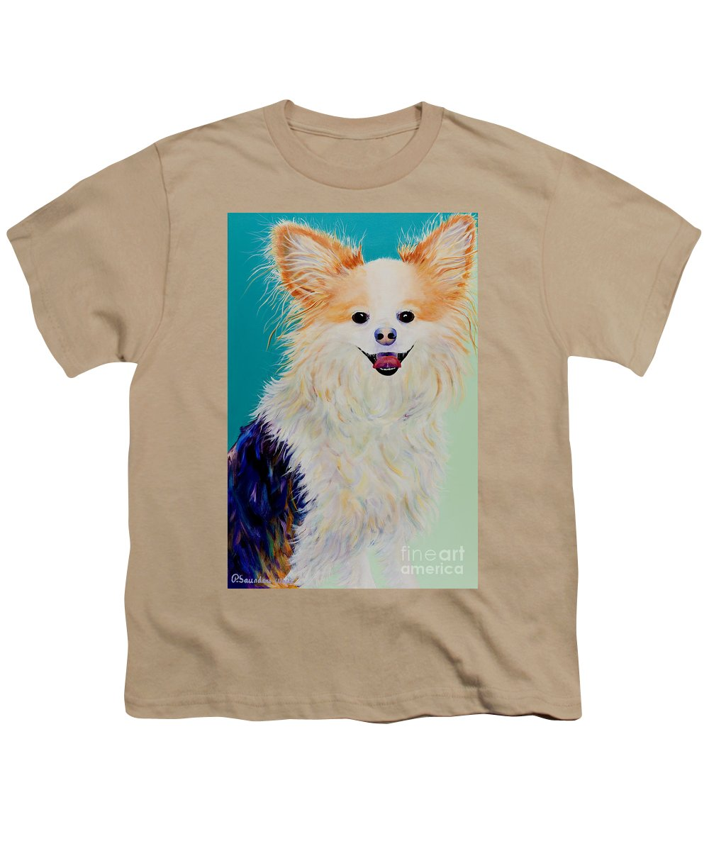 Animal Youth T-Shirt featuring the painting Baxter by Pat Saunders-White