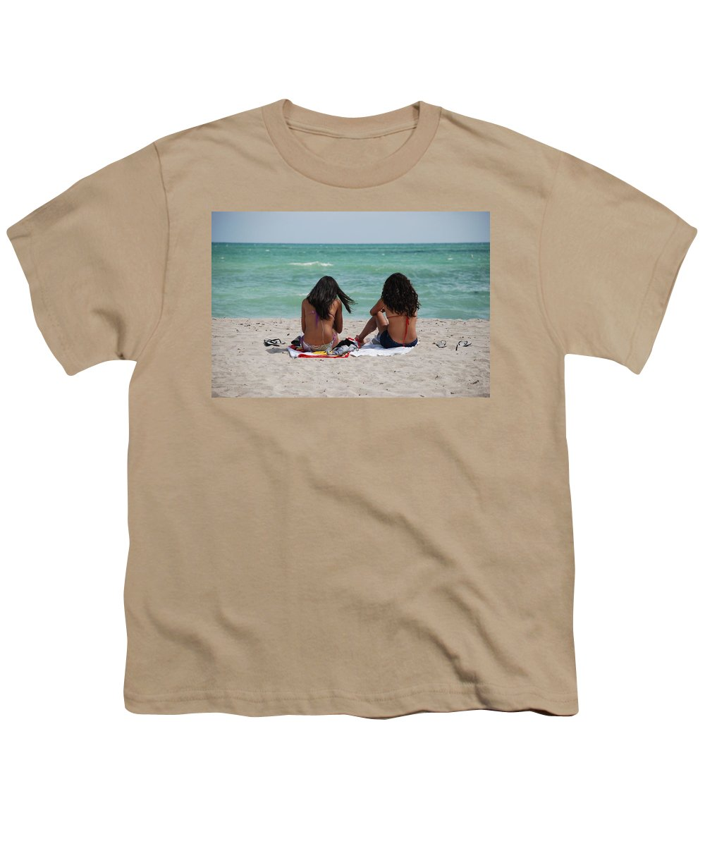 Women Youth T-Shirt featuring the photograph Beauties On The Beach by Rob Hans