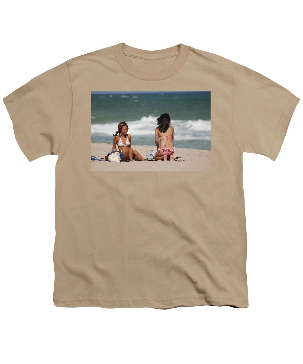 Sea Scape Youth T-Shirt featuring the photograph Billabong Girls by Rob Hans
