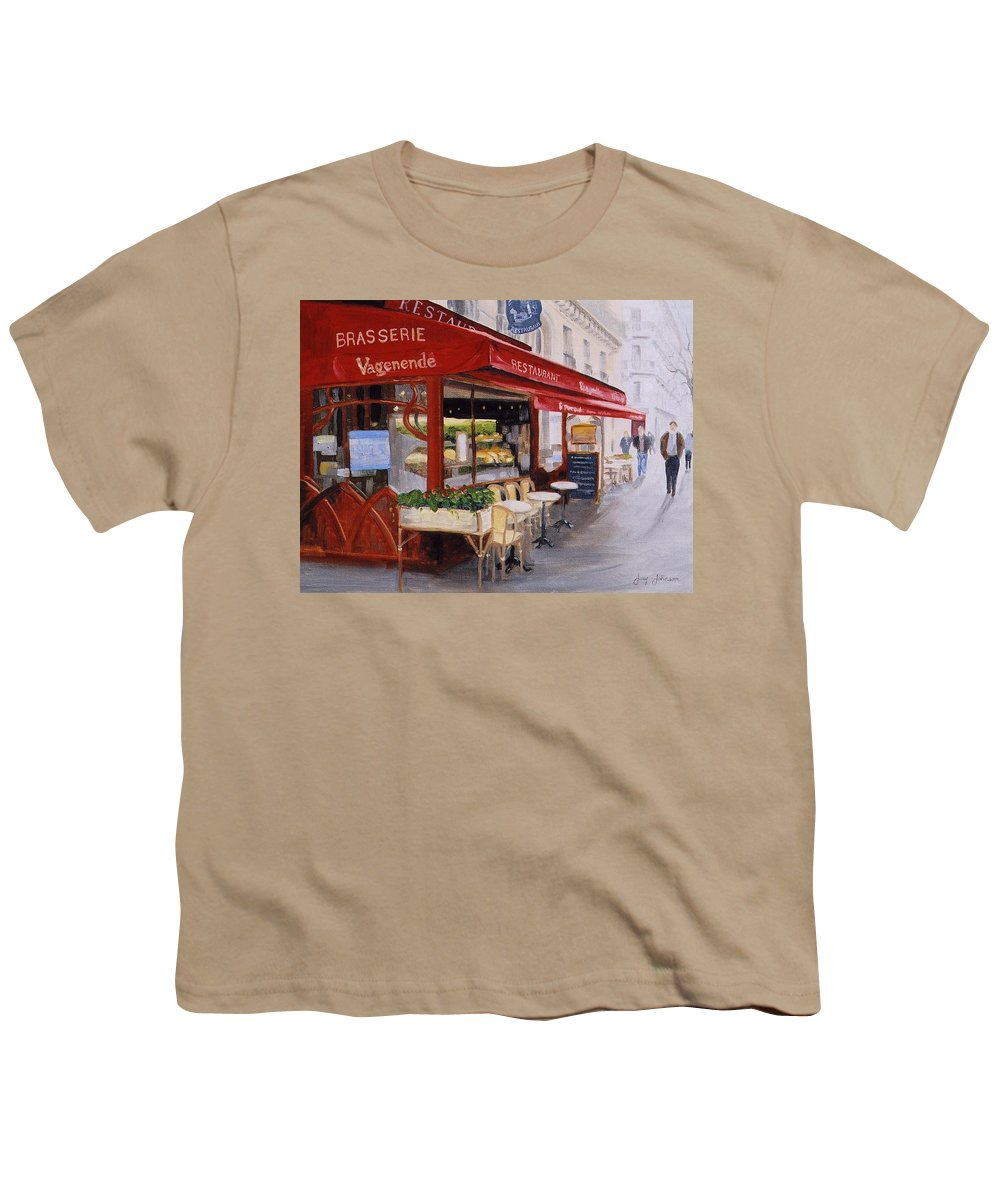 Cafe Youth T-Shirt featuring the painting Cafe 4 by Jay Johnson