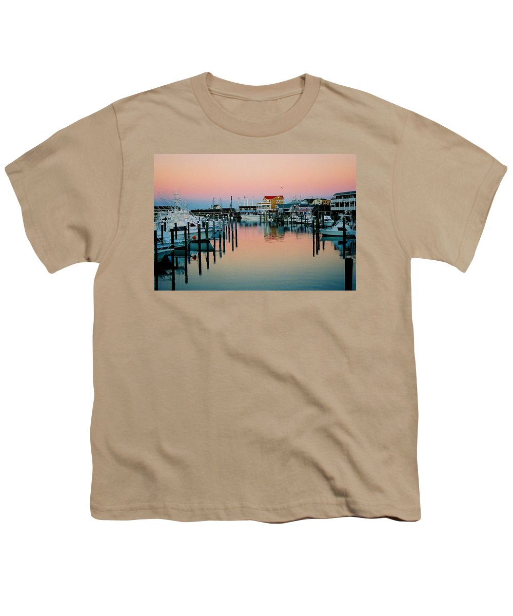 Cape May Youth T-Shirt featuring the photograph Cape May After Glow by Steve Karol