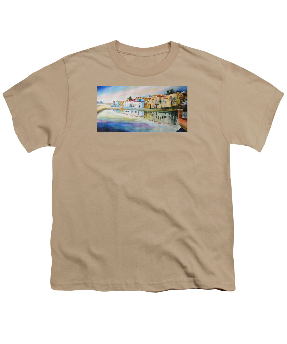 Capitola Youth T-Shirt featuring the painting Capitola by Karen Stark