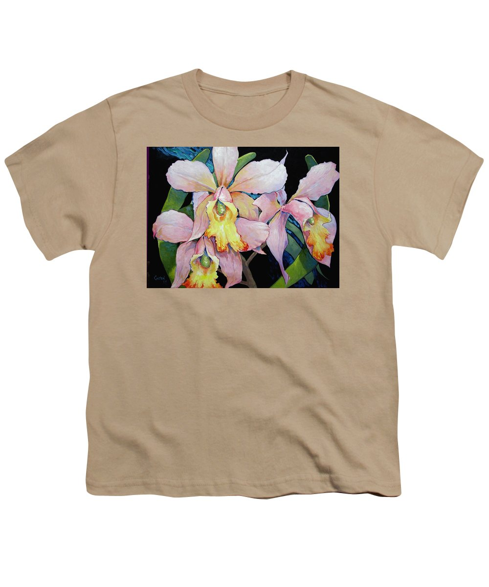 Catalya Youth T-Shirt featuring the painting Catalya Arrangement by Jerrold Carton