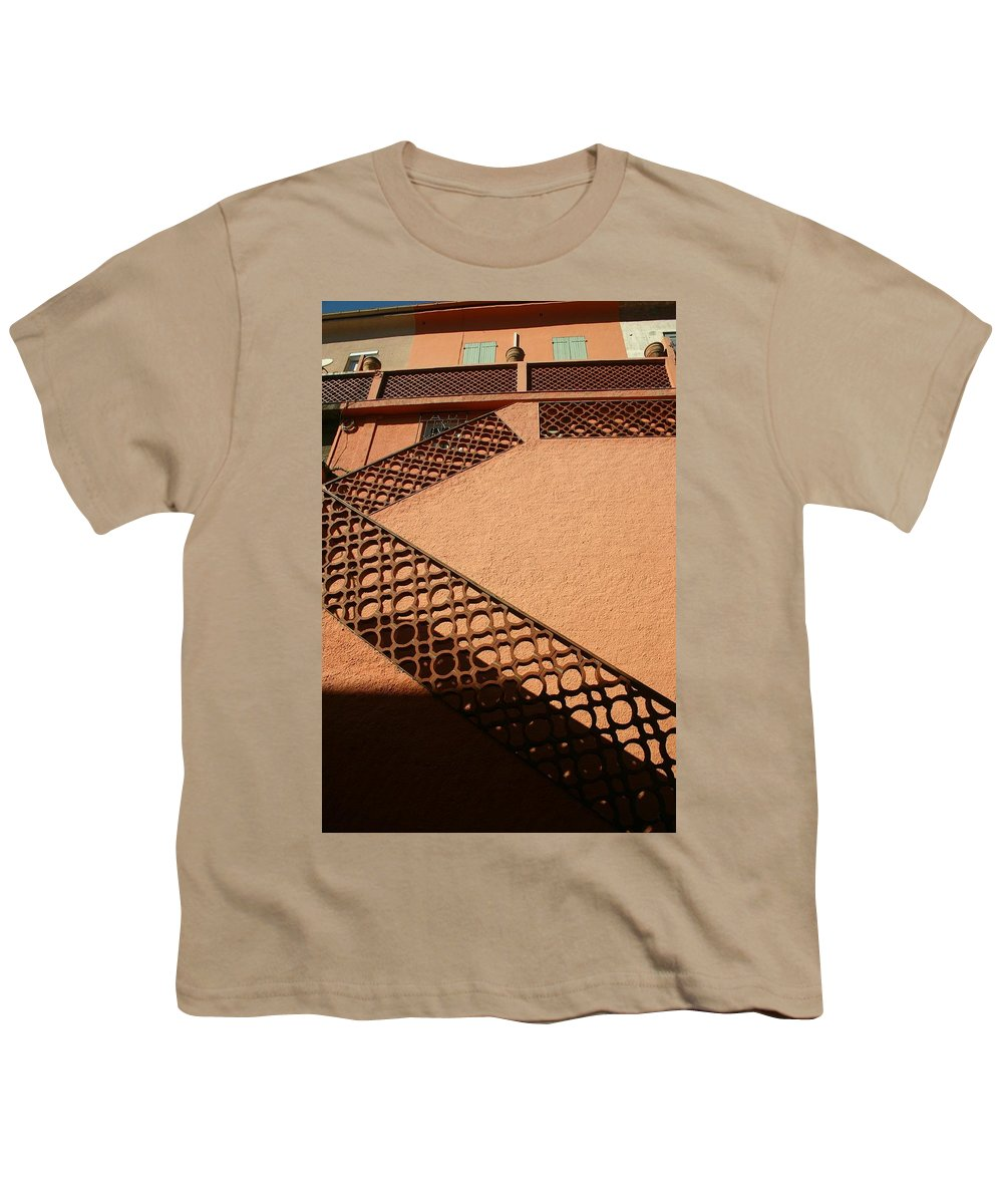 Stairs Youth T-Shirt featuring the photograph Cerbre France Stairs by Minaz Jantz