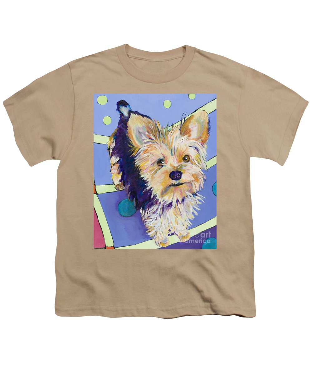 Pet Portraits Youth T-Shirt featuring the painting Claire by Pat Saunders-White