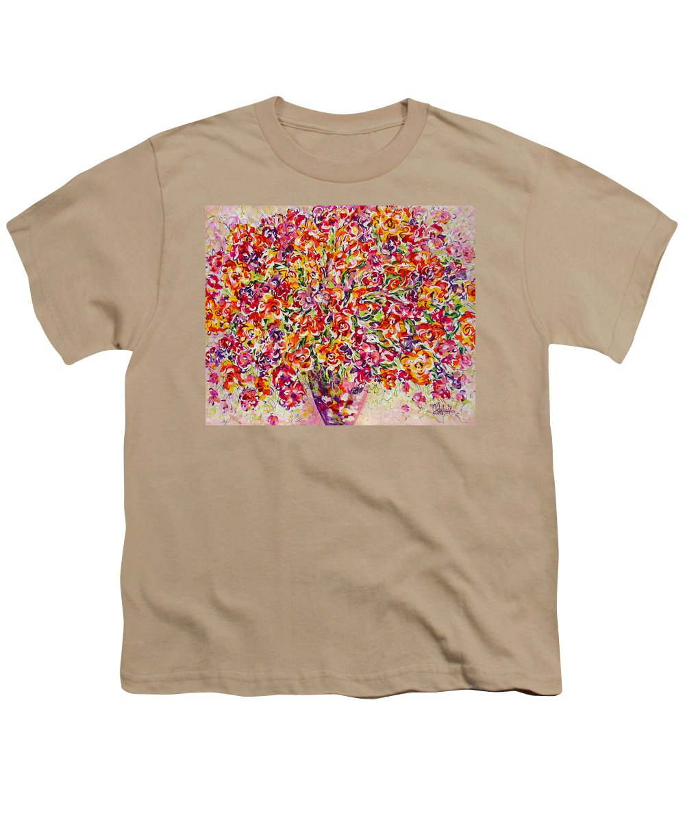 Framed Prints Youth T-Shirt featuring the painting Colorful Organza by Natalie Holland