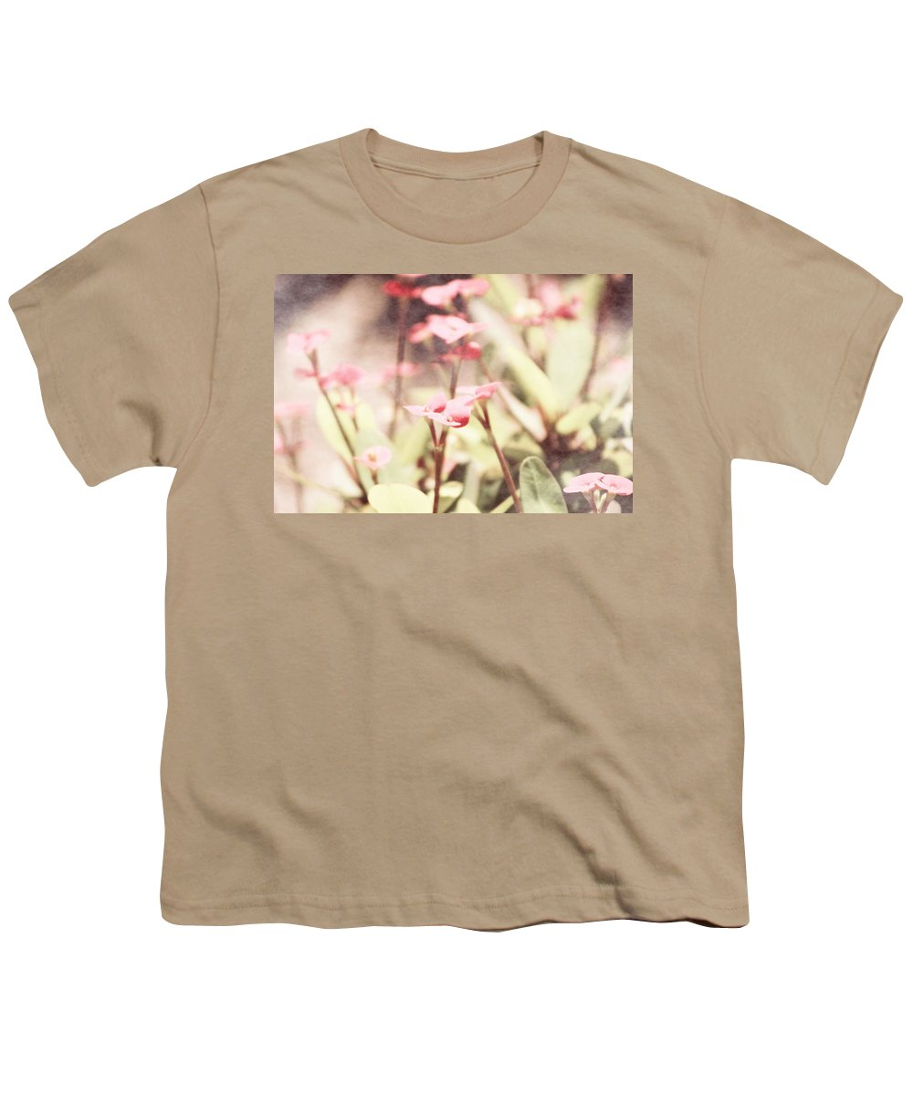 Prism Pink Youth T-Shirt featuring the photograph Country Memories in Prism Pink by Colleen Cornelius