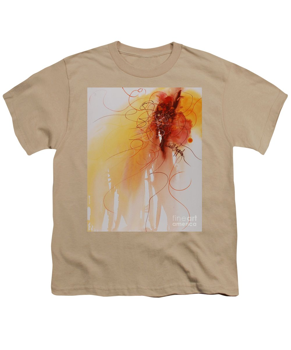 Creativity Youth T-Shirt featuring the painting Creativity by Nadine Rippelmeyer