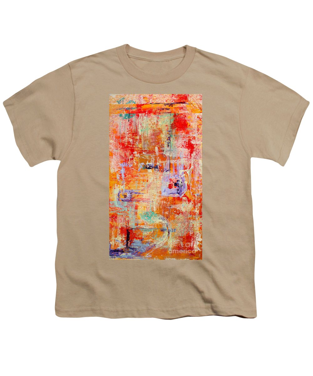Large Format Painting Youth T-Shirt featuring the painting Crescendo by Pat Saunders-White