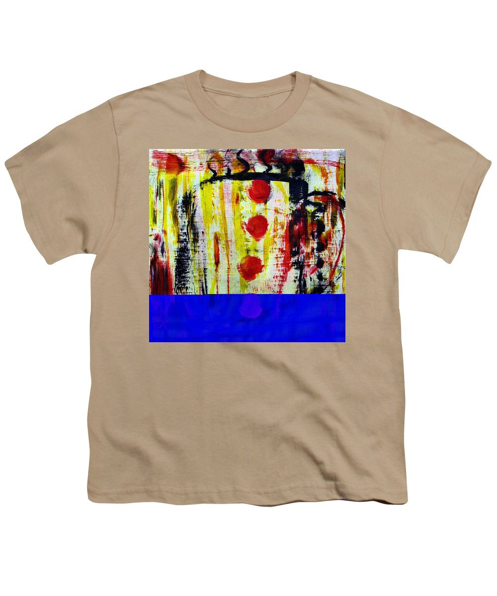 Coffee Youth T-Shirt featuring the painting Cup Of Java by Wayne Potrafka