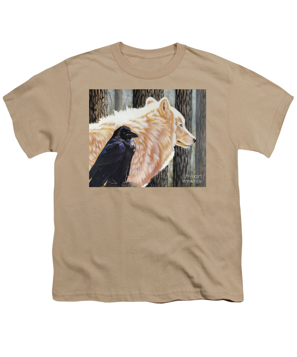 Acrylic Youth T-Shirt featuring the painting Dance In The Light by Sandi Baker