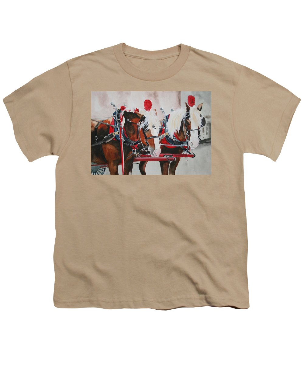 Horse Youth T-Shirt featuring the painting Dandy Duo by Jean Blackmer