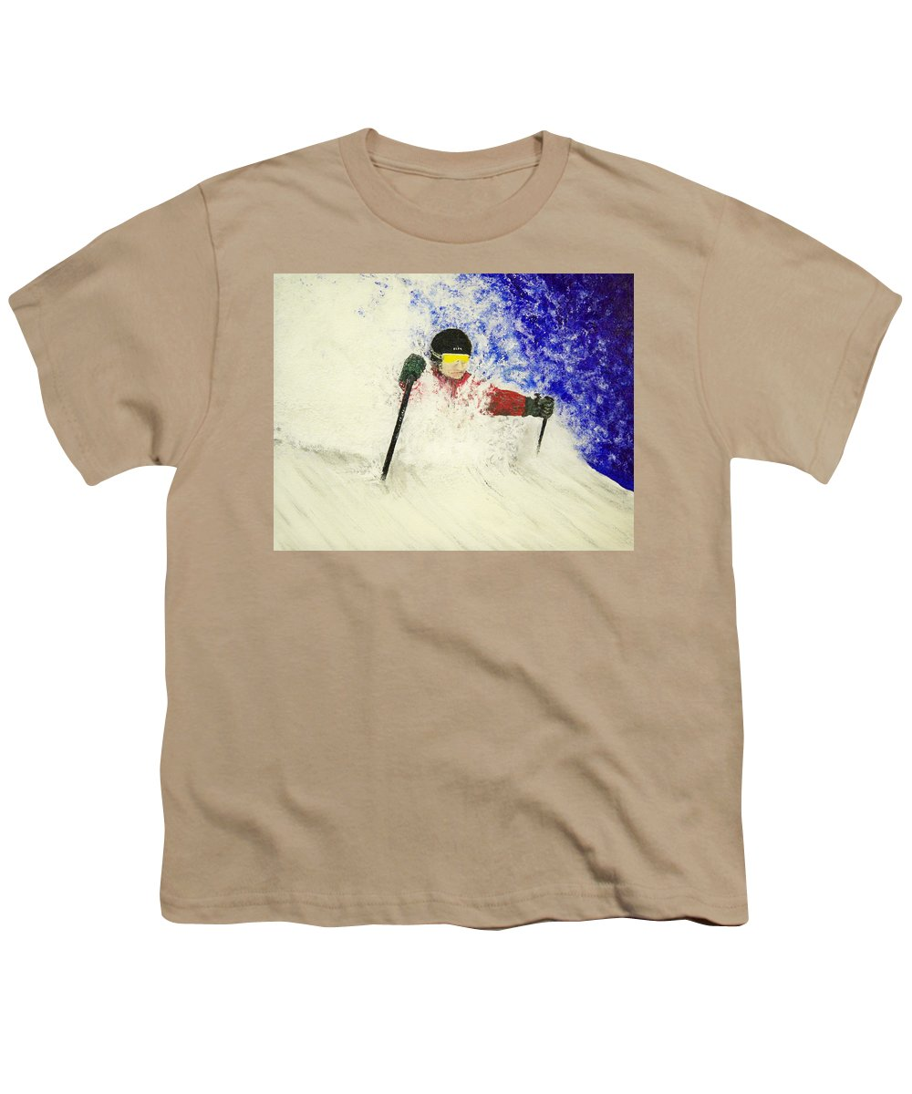 Utah Youth T-Shirt featuring the painting Deeeep by Michael Cuozzo