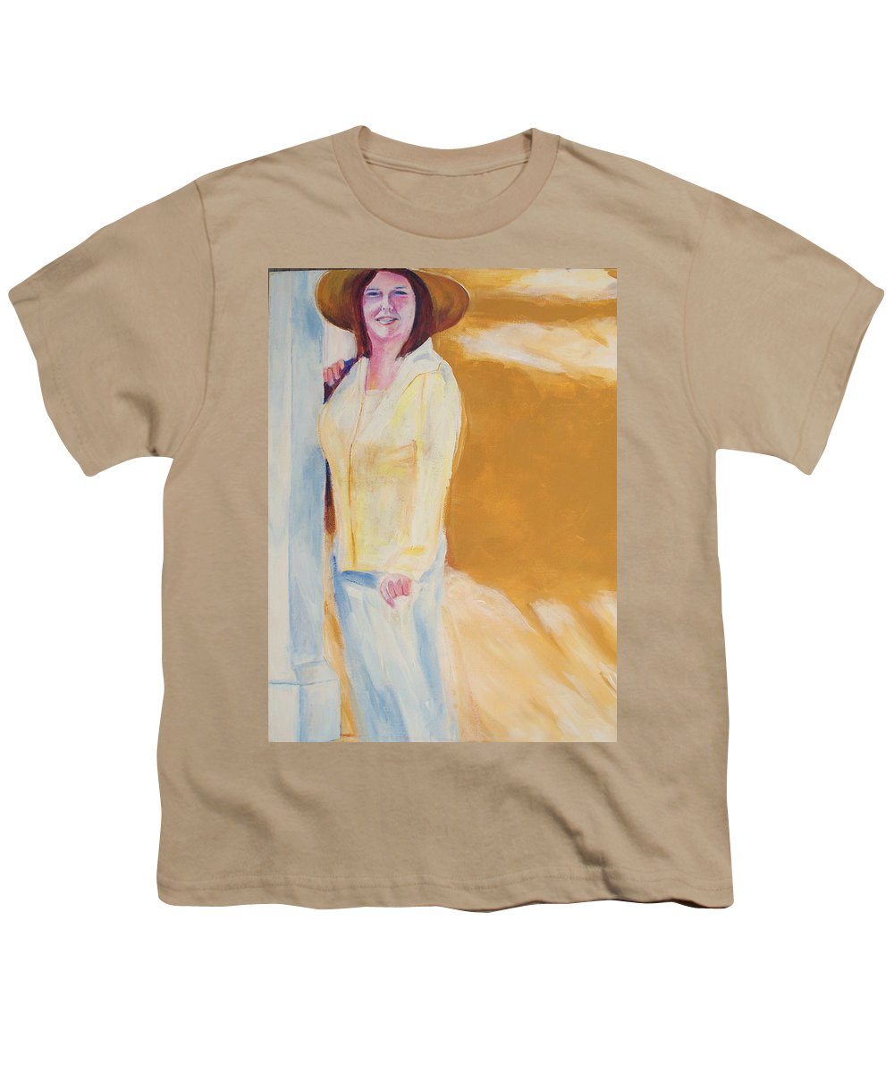 Portraits Youth T-Shirt featuring the painting Diane by Eric Schiabor