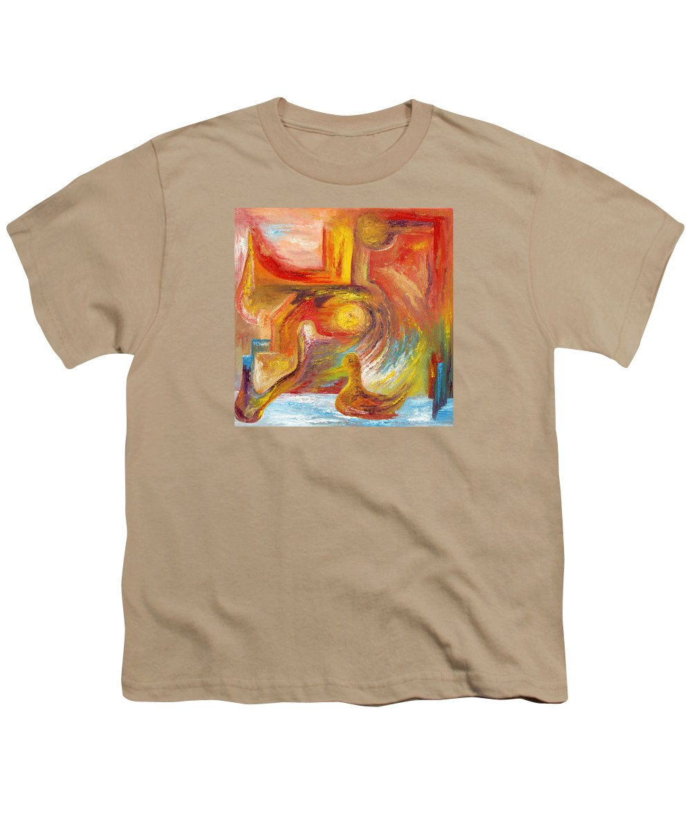 Duck Youth T-Shirt featuring the painting Duck The Alchemist by Karina Ishkhanova