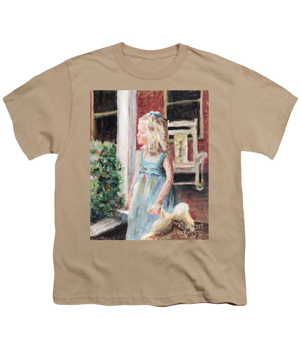 Girl Youth T-Shirt featuring the painting Elizabeth Anne by Nadine Rippelmeyer