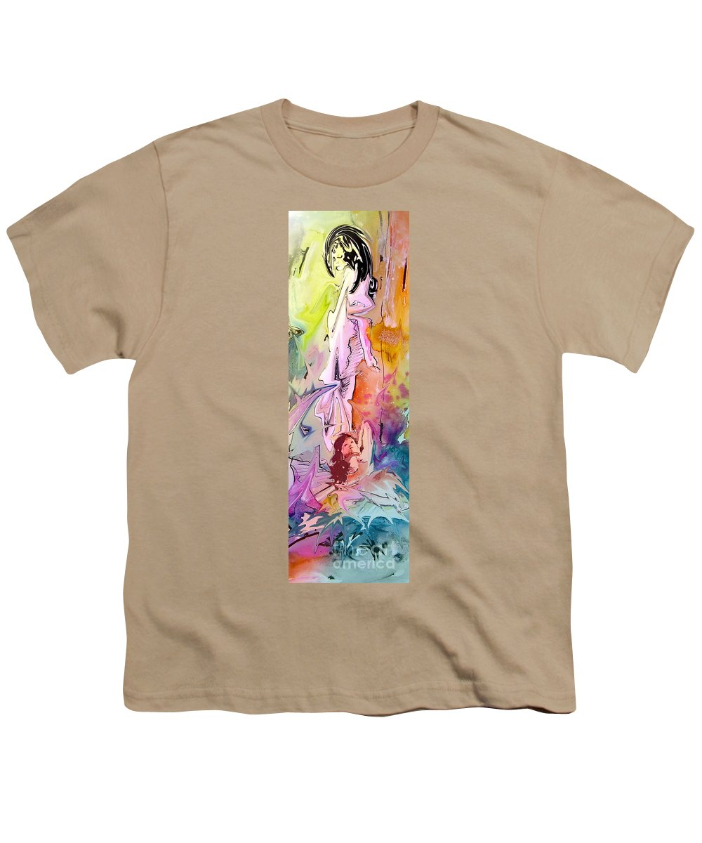 Miki Youth T-Shirt featuring the painting Eroscape 09 1 by Miki De Goodaboom